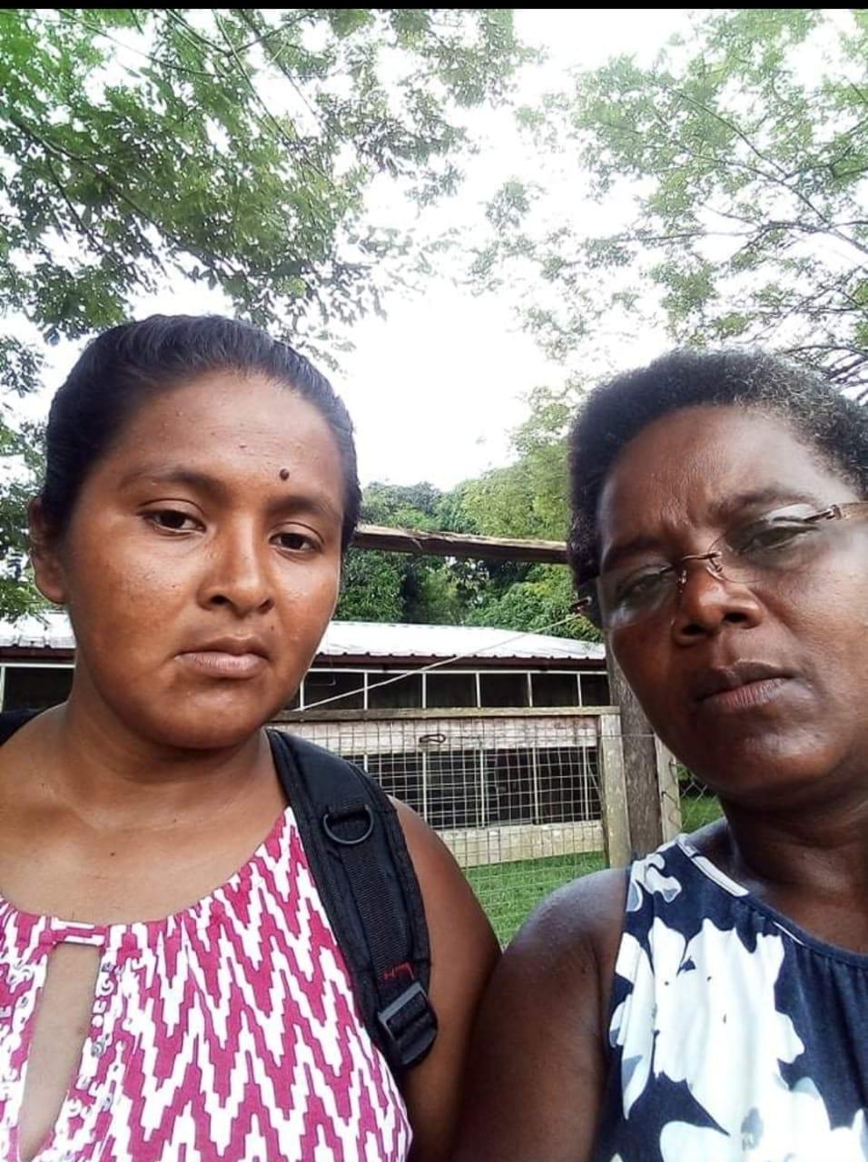 Fermina Lacuth y Mirza Lacuth, actuales coordinadoras comunitarias